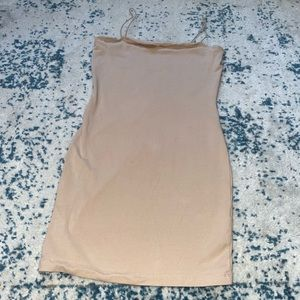 Nude bodycon dress (medium)